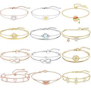 Alta qualidade original swa sl017 pulseira dupla pulseira valentine estilo mulher jóias presente com marcação original frete grátis