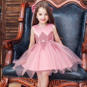 Baby Children Girl Dress 2020 Kids Ceremonies Party Dresses Flower Princess Wedding Gown Baby Girl Christmas Dress 2-12 Year New F1202