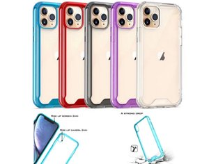 Clear Case for iPhone 12 Mini Pro Max 11 X XS XR Samsung Galaxy S20 Plus Note 20 Ultra A21S A51 A71 A41 Shockproof Transparent Acrylic Cover