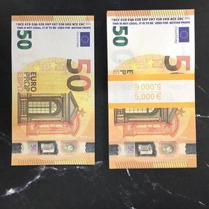 Moderne Money Euros 10/20/50 Papier Copier Banknote PROP ARGENT EURO 100PCS / PACK Livraison GRATUITE 02