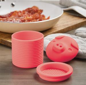 Контейнер для смазки бекона с биконом для бенсина для бенсинки с силиконовым коллектором для хранения мясной сковороды для сковороды.