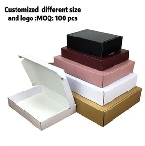 10pcs lot paper box brown cardboard handmade soap box white craft paper kraft gift black packaging jewelry