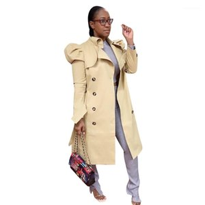 Lepal Neck Warm Winter Jacket Casual Womens with Button Coats Womens Solid Color Trench Coats Fashion