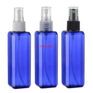 뜨거운 판매, 30pcs, 100ml 스퀘어 블루 향수 스프레이 병, 화장품 포장, 재충전 병, 물 변동 품질