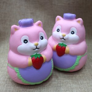Cute Chef Hamster Squishy Kawaii Simulation Squishies Slow Rising Safe Hand Squeezed Soft Toys Eco Friendly Top Quality 15fd YB