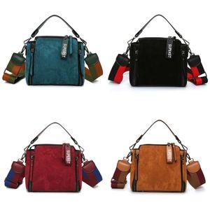 HBP Scrub Deri Katı Renk Crossbody Kadın Çantası Lüks Vintage Kadın Omuz Çantaları Ünlü Markalar Bayanlar Çanta Tote Q1230