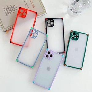 Square skin feel suitable for Apple iPhone12Pro 11 mobile phone case Phantom 7plus matte soft XS case