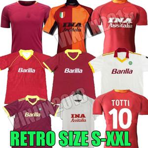 17 18 Retro Roma Soccer Jerseys 00 01 02 89 90 91 92 94 Rome Giannini Totti Batistuta Nakata Nela Vintage Voller Conti Football Tops Classic