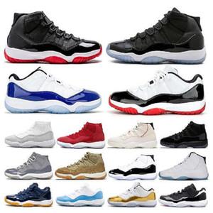 2021 Mens Prow Night 11 11 11s 무지개 빛 농구 신발 UNC 체육관 빨간 공간 잼 45 Concord Bred Sport Sneakers 크기 5.5-13