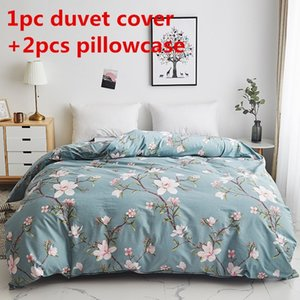 Peach blossom duvet cover sets Pure cotton quilt cover twin single double queen king bedding set 2pc pillowcase comforter cover Y200417