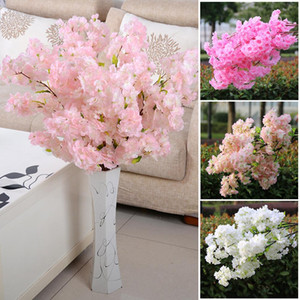 1M long Fake Cherry Blossom Flower Branch Begonia flower Tree Stem for Event Wedding Deco Artificial Decorative Flowers