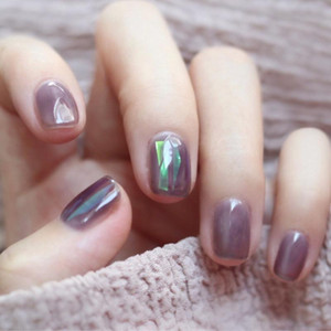 Ins new grape purple autumn winter white wearing manicure patch paper manicure patch fake nail waterproof removable piece
