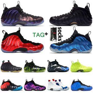 Air Foamposite Pro Penny Hardaway Shoes manera barata berenjena isla verde metálica de baloncesto zapatos AirPenny Hardaway Foamposite zapatillas  hombres zapatos de entrenadores