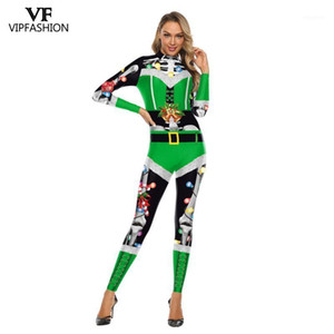 VIP FASHION 2019 New Christmas Jumpsuits For Women Cosplay Costumes New Year Christmas Party Clothing Sexy Bodysuit1