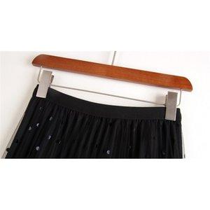 Saias Femininas 2020 Cintura Alta Saia Feminina Casual Vintage Slido Com Cinto Plissado Senhora Moda Moda MUJERS FALDAS SMVT