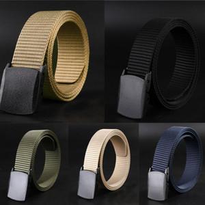 Mode Gürtel Mann Frauen Automatische Nylon Gürtel Schnalle Fans Taktische Leinwand Gürtel Solide Farbe Durable Unisex # Y40