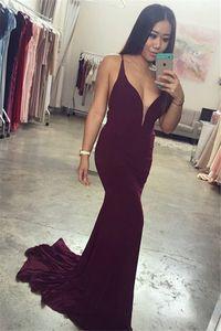 Simple Design Women Bridesmaid Dresses Sexy Spaghetti Straps Long Mermaid Prom Dress for Wedding Party Custom Made