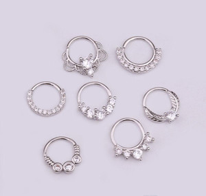 Ear Nails Round Nail Zircon Bone Ring Nails Jewelry Inlay Nasal Micro Human Creative Piercing Nose Septum sqcfR queen66