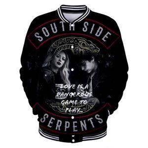 3D Stampa Riverdale Casual Jacket manica lunga baseball vestiti delle donne 2020 di Hip Hop Kpop Harajuku Tops Plus Size