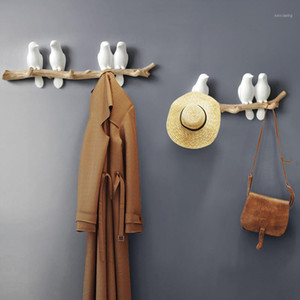 Wall Accessories Decoration Wall Hooks Holder Home Figurine Handbag Key Bag Birds Coat Hanger Decorative Resin Rack For Clothes1 Sdrcl