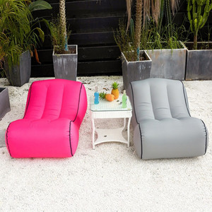 Portable Inflatable Chair Sofa Outdoor Garden Furniture Couch Inflatable Bed Yard Beach Garden Swimming Pool Lounger Air Chair 2020