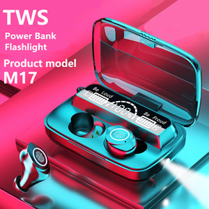 M17 TWS LED Display Show Flashlight Mini Wireless Bluetooth 5.1 Headphone M18 M10 Stereo Sport Earbuds Earphone Touch Key Waterproof Headset