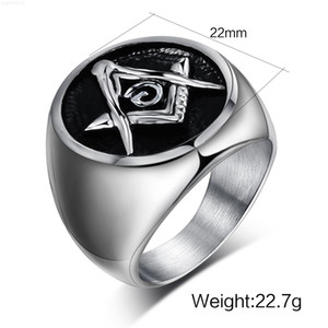 Vintage Silver Casting Masonic Rings in Stainless Men's Steel Size 6 to Size 13