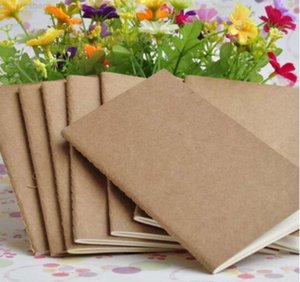 notepad A5 cowhide blank 2019 book Hot vintage Kraft paper Easy to carry Small notebook Graffiti sketch DHL Free