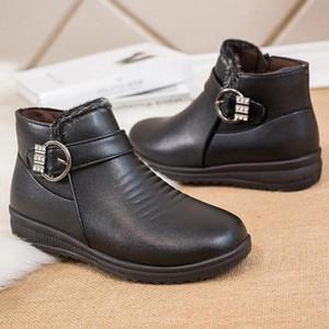 여성 부츠 2020 뉴스 편안한 숙녀 신발 방수 신발 캐주얼 패션 새로운 도착 부츠 겨울 2020 큰 크기 # bl7j
