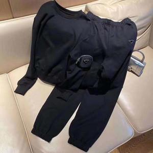 Kadın Hoodie Parça Takım Elbise Sping Sonbahar Stil Bayan Ince Hoosie Pocket Kollu Ile Setleri Ile Terry Kazak Trouse Pantolon Tops