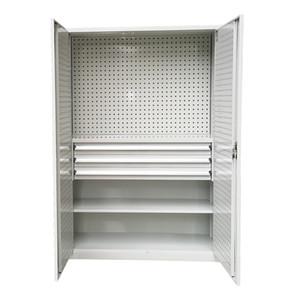 Тяжелая мастерская коробка для хранения, железный лист, шкаф из стальных данных с подвесной пластиной, 3 ящика
