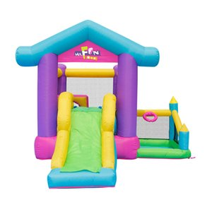 Household Inflatable Obstacle Bouncer Slide Combo Garden Supplie Kids Play Obstacles Castle Slides with Air Blower Family Gardens Events Party Backyard Fun