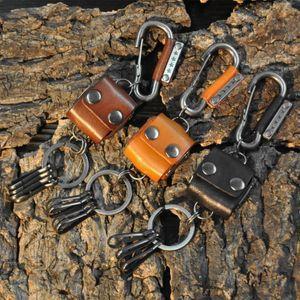 Japanese Handmade Hot Sale Trend Retro Car Keychain Dice Leather Keychain Men's Pendant Birthday Gift Women's Keyring for Bags