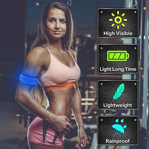 1 2Pcs LED Light Up Armbands Sports Wristbands For Running Reflective Gear Flashing Sports Accessories munequera deportiva