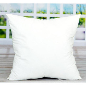 45*45cm Sublimation Square Pillowcases 2020 DIY White Pillowcase Cover for Heat Transfer Home Sofa Bed Car Cases Blank Throw Pillow Gift
