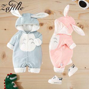 Zafille recién nacido bebé invierno ropa algodón cálido Totoro bebé traje lindo bebé niña mamella Cloon invierno mono 0 para niños J1203