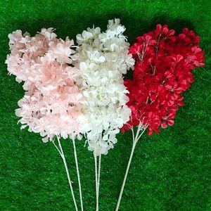 محاكاة البرقوق الكرز أزهار الحرير الاصطناعي الزهور ساكورا الفروع الجدول المنزل غرفة المعيشة الزفاف الديكور BWB4678