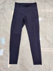 Hot Sale Women yoga pants with pockets Solid Color High Waist Sports Gym Wear Leggings Elastic Fitness Lady Overall Full Tights Workout