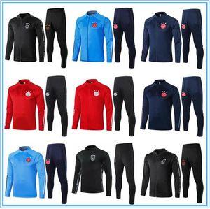 2020 AJAX Survetement Ceket Eğitim Takım Elbise Futbol Forması Eşofmanlar 2021 Ajax Eşofman Futbol Ceket Eşofman Seti