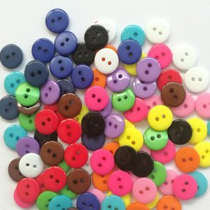 100pcs Lots Candy Color Resin Sewing 2 Holes Buttons Scrapbooking Embellishment Decorative Buttons 9mm 1 bbytaE