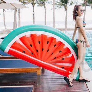 180cm Inflable Ring Half Watermelon Swimming Mattress Lounger Kids Float Bed Inflatable Pool Party Toys New Z1202