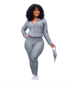 Women Clothes Two Piece 2 piece+ Mask woman set womens sweat suits Plus Size Jogging Sport Suit Soft Long Sleeve Tracksuit Sportswear White