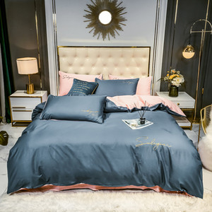 100% Cottong European Style 4 pcs Bedding Set Bed clothes Duvet Cover Pillow Case Queen and King Size with Pillowcase
