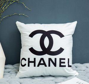 2020 hot sale 45*45 cm 5 pieces lot Nordic pillowcase geometric lattice striped English letters simple sofa pillowcase(no pillow)