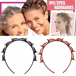 Hot Ins Unisex Alice Haarband Stirnband Männer Frauen Sport Hair Band Metall Reifen Double Bangs Frisur Haarnadel 2020 Neueste Ankunft