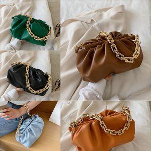 Signore Gnocchi Clip Clip Borsa delicata Cloud Bag Versatile Pleated Paper Bag Bag Cloud Moda Borsa a tracolla Donne Suddars # 9004
