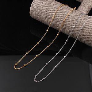Moderne Inox Suqi Steel Steel Femmes Colliers Gold Argent Couleur Perle Chaîne Collier Couillage Cou de cou Bijoux SW73