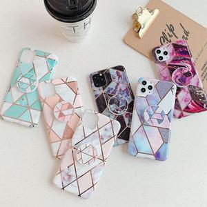 Telefonkasten für iPhone 12 Fallbezug 2020 Neue kundenspezifische marmor geometrische stripe iMD