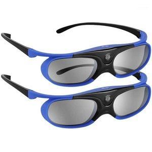 2pcs Active Shutter Eyewear DLP-Link Occhiali 3D USB Ricaricabile per i proiettori di collegamento DLP compatibili con il progetto W1070 W7001