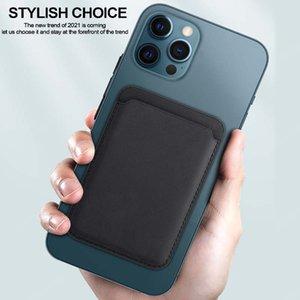 마그네틱 PU 가죽 마그네틱 폰 지갑 가죽 지갑 아이폰 12 프로 최대 미니에 적합한 마그네틱 전화 지갑 파우치 케이스